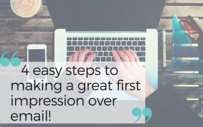 4 Easy Steps To Making A Great First Impression Over Email